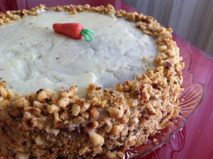 torta di carote al cioccolato bianco