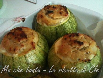 zucchine tonde ripiene - stuffed zucchini