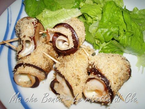 involtini di melanzane light - eggplant rolls