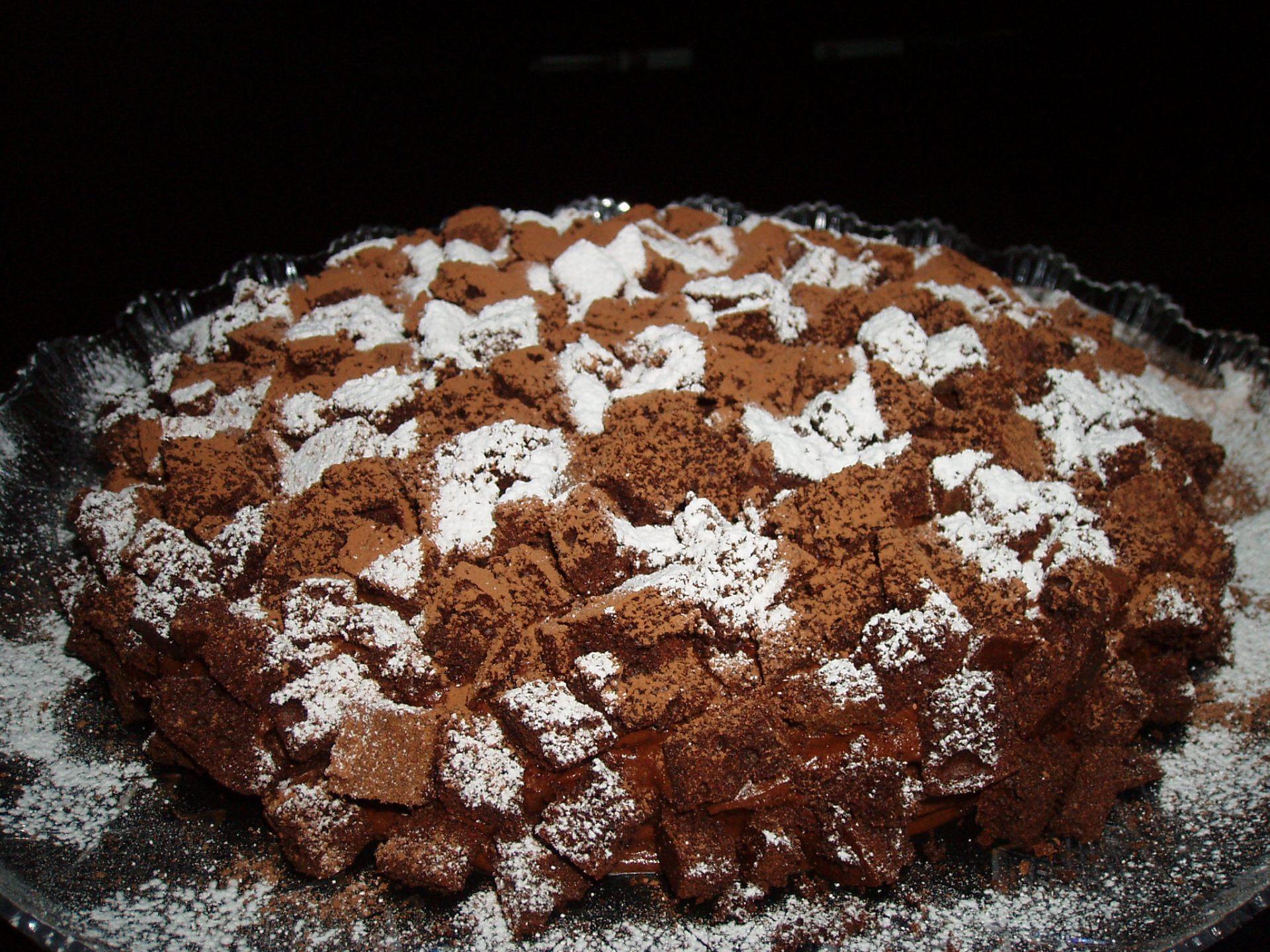 Torta alla mousse di cioccolato