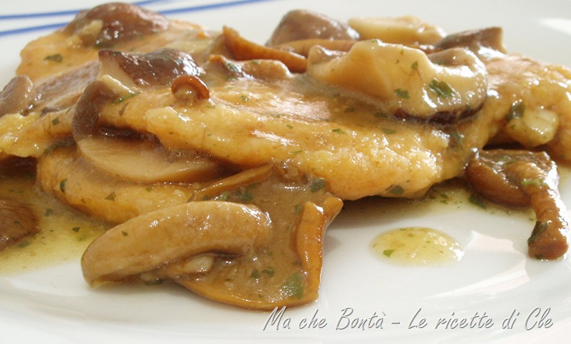 pollo ai funghi - chicken and mushrooms