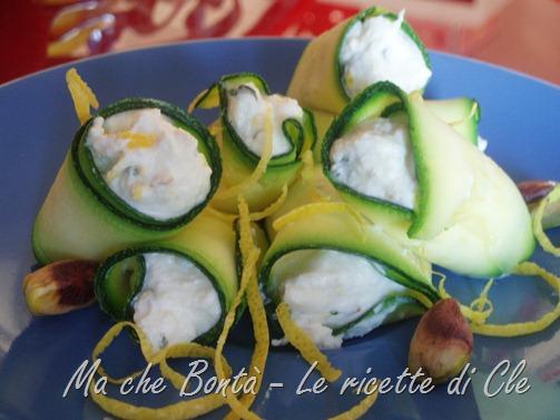 rotolini zucchine ricotta