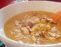 crema lenticchie rosse e mandorle