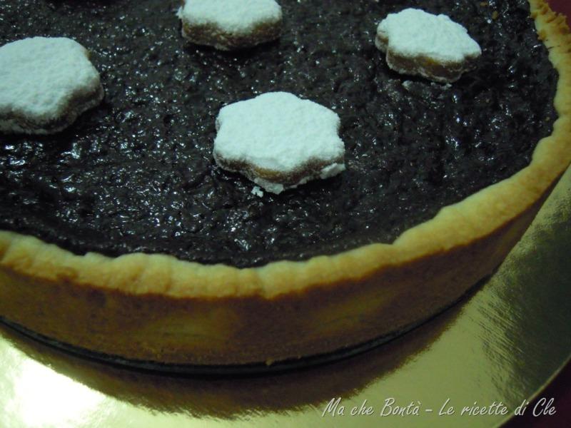 crostata al cioccolato senza uova