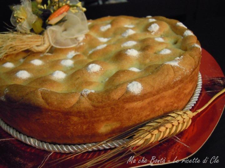 Crostata di pane e mele