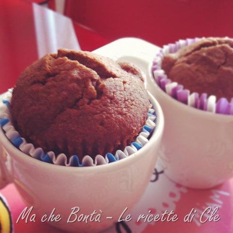 muffin ciocco-pere senza glutine-uova-lattosio