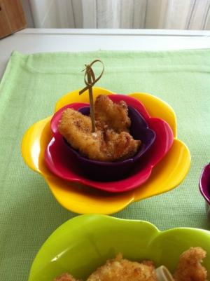 Pollo marinato croccante