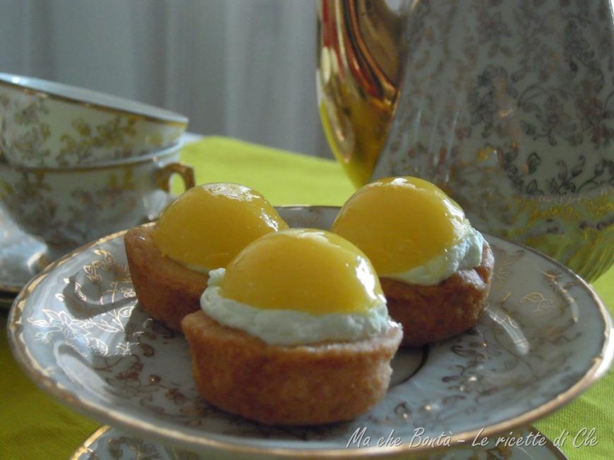 tartellette limone e pistacchio