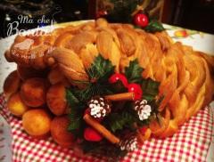 La cornucopia di pane intrecciato