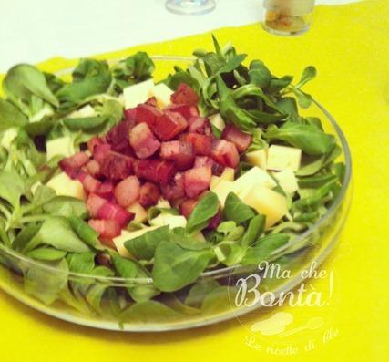 insalata noci e pancetta