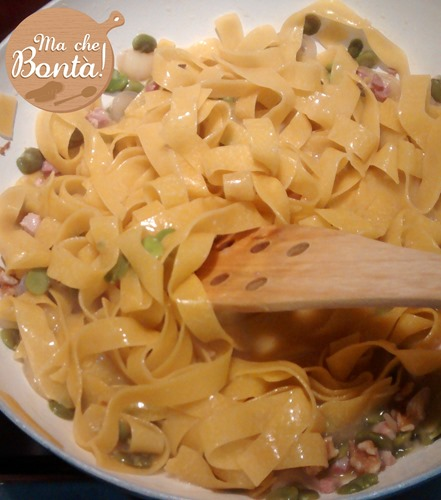 pappardelle fave pancetta