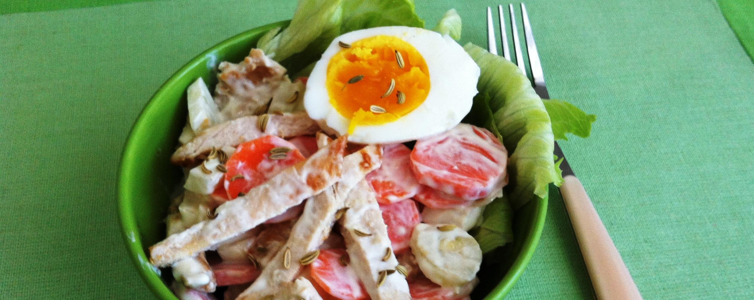 Insalata di pollo e carote – Carrot and chicken salad