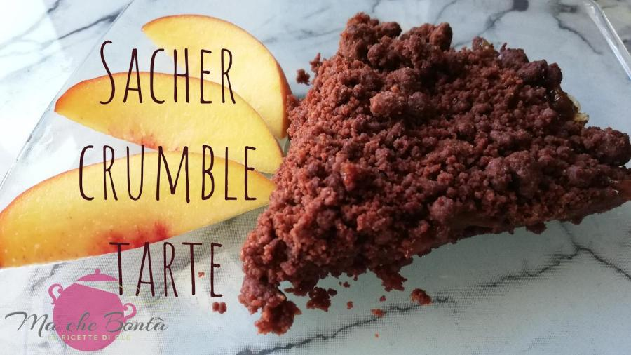 Sacher-crumble-tarte